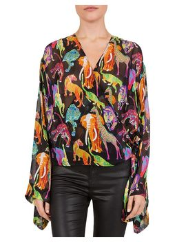 funky-jungle-printed-wrap-blouse by the-kooples