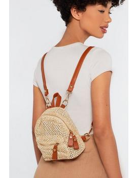 Want Can't Help Falling In Woven Backpack by Nasty Gal