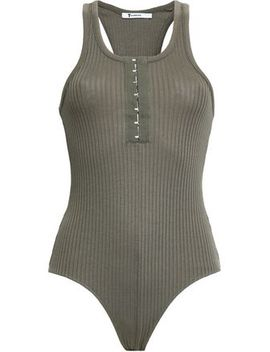 Ribbed Cotton And Modal Blend Bodysuit by T By Alexander Wang