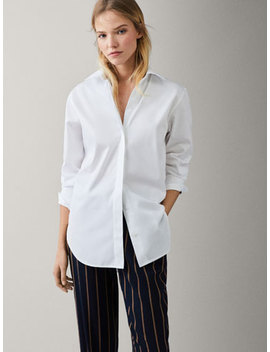 Cotton Shirt With Collar Detail by Massimo Dutti