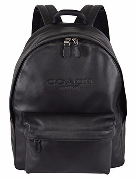 Coach F54786 Black Leather Campus Rucksack Backpack by Coach