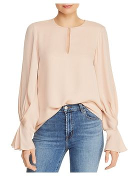 Abekwa Pleat Sleeve Top by Joie