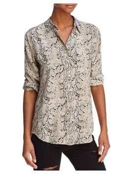 Slim Signature Printed Silk Shirt by Equipment