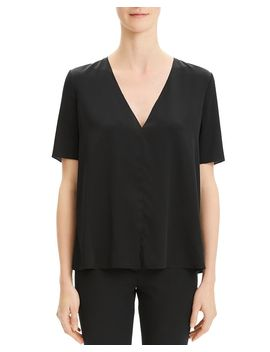 V Neck Box Top by Theory