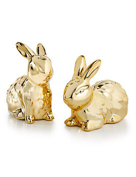 Bunny Salt & Pepper Shakers, Created For Macy's by Martha Stewart Collection