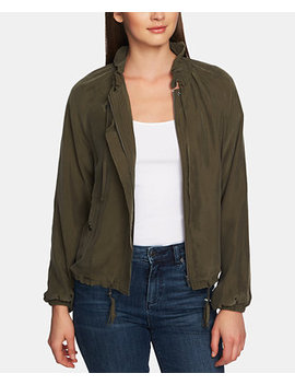 drawstring-cupro-soft-bomber-jacket by 1state