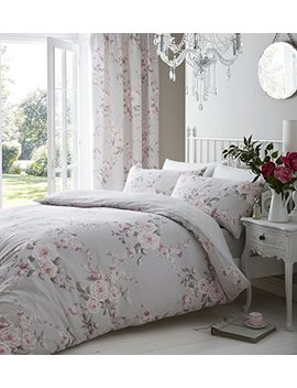 Catherine Lansfield Canterbury Easy Care King Duvet Set Grey by Catherine Lansfield