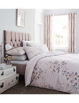 Catherine Lansfield Canterbury Easy Care Single Duvet Set Blush by Catherine Lansfield