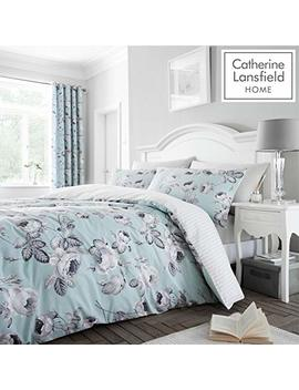 Catherine Lansfield Shrewsbury Easy Care Double Duvet Set Duck Egg by Catherine Lansfield