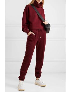 Cropped Organic Cotton Jersey Sweatshirt by Ninety Percent