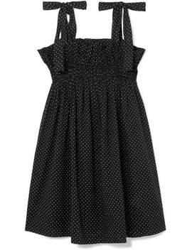 Polka Dot Cotton Voile Mini Dress by Ganni