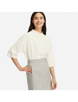 Drape 3/4 Sleeve Blouse by Uniqlo