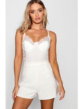 Crepe High Waisted Short by Boohoo