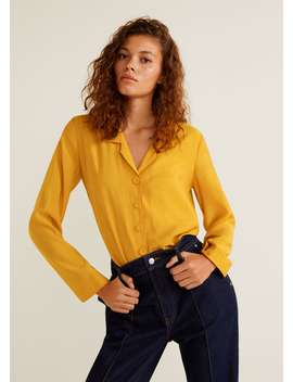 blouse-modal-fluide by mango