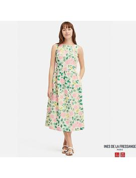 Women Printed Sleeveless Dress (Ines De La Fressange) by Uniqlo