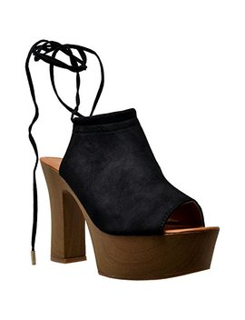 Sobeyo Womens Platform Sandals Peep Toe Open Back Clogs Wood Chunky High Heel Shoes Sbo Sw251 by Sobeyo