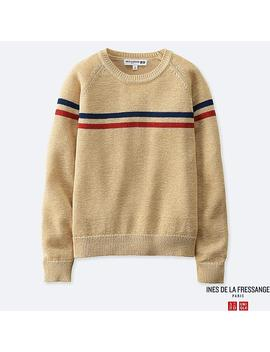 Women Line Crew Neck Sweater (Ines De La Fressange) by Uniqlo