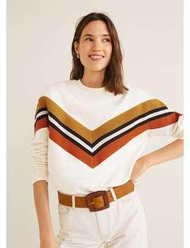 Sweat Shirt Coton Empiècements Contrastants by Mango