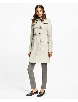 Petite Wool Cashmere Duffle Coat by Brooks Brothers
