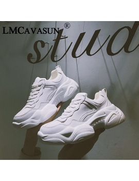 Lmcavasun New Women's Chunky Sneakers Women Casual Platform Shoes Canvas Female Trainers Dad Shoes High Top Sneakers by Lmcavasun