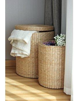 Special Offer: Handwoven Round Storage Baskets/Wedding Gift Laundry Basket/Straw Basket/Footstool/Wholesales Bulk/Utility Basket by Etsy