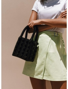 Full To Love Beaded Bag Black by Princess Polly