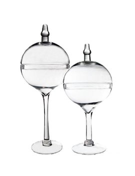 Glass Candy Buffet 2 Piece Apothecary Jar Set by Cys Excel