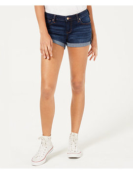 Juniors' Cuffed Denim Shorts by Celebrity Pink