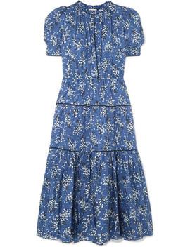 Corrine Floral Print Cotton And Silk Blend Dress by Ulla Johnson