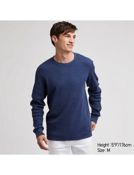 Waffle Crew Neck Long Sleeve T by Uniqlo
