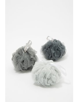 Charcoal Infused Bath Poufs by Urban Planet