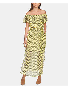 Ruffly Off The Shoulder Maxi Dress by 1.State