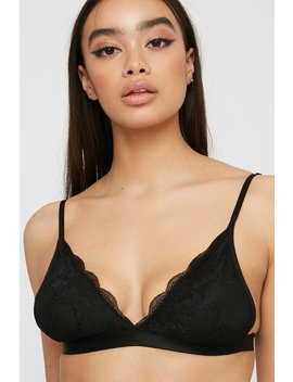 Lace Wire Free Triangle Bra by Urban Planet