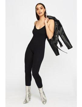 Ribbed V Neck Jumpsuit by Urban Planet