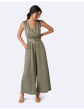 Ashley Wrap Wide Leg Jumpsuit by Forever New