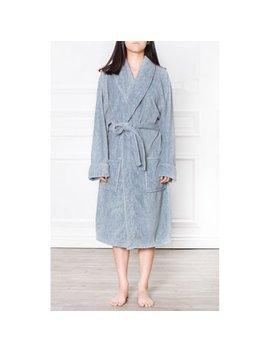 Pavilia Premium Women's Fleece Robe Bathrobe Super Soft, Side Pockets, Lightweight Microfiber, Luxurious (Small/Medium, Navy) by Pavilia