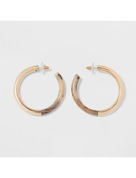 Sugarfix By Bauble Bar Lucite Hoop Earrings by Sugar Fix By Bauble Bar