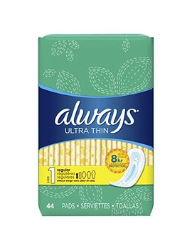 Always Ultra Thin Feminine Pads For Women, Size 1, Regular Absorbency, Unscented, 44 Count Pack Of 3... by Always