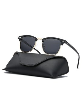 Ray Parker Classic Clubmaster Horn Rimmed Semi Rimless With Polarized Lenses For Men Sunglasses Rp6623 by Ray Parker