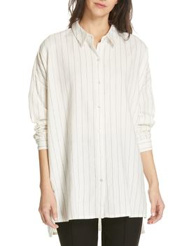 Boxy Stripe Shirt by Eileen Fisher