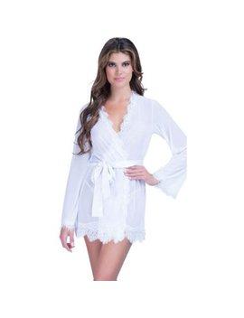 Womens Lace Sheer Sexy Sleepwear Robe Bathrobe Nightwear Dress Lingerie Sets by Womens Robes