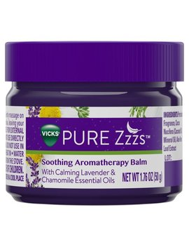 Vicks Pure Zzzs Soothing Aromatherapy Balm With Calming Lavender & Chamomile Essential Oils, 1.76 Oz by Vicks