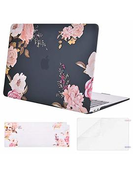Mosiso Mac Book Air 13 Inch Case 2018 Release A1932 With Retina Display, Plastic Pattern Hard Case Shell & Keyboard Cover & Screen Protector Only Compatible Newest Mac Book Air 13, Peony Blossom by Mosiso