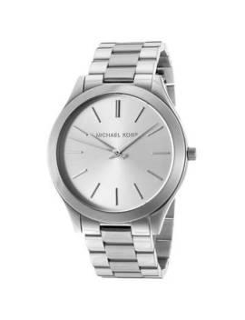Michael Kors Women's Slim Runway Silver Stainless Steel Quartz Fashion Watch Mk3178 by Michael Kors