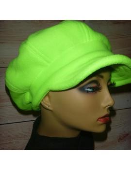 Lime Neon Fleece Newsboy Hat Cap, Womens Fleece Hat, Baker Boy Hat, Slouchy Hat, Fleece Hat, Fleece Newsy, Newsboy Hat Women, Green Newsboy by Etsy