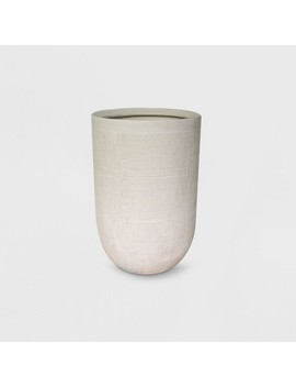 """18"""" Textured Ceramic Planter White   Project 62™ by Shop This Collection"""