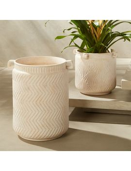 Cistern Planter With Handles Large by Crate&Barrel