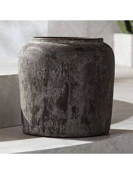 Roma Round Terracotta Planter Large by Crate&Barrel