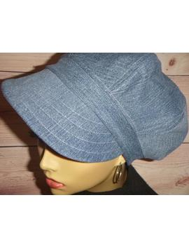 Denim Newsboy Hat, Newsboy Cap For Women, Baker Boy Hat 8 Panel, Recycled Blue Denim Hat, Vintage Style Hat by Etsy