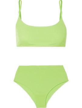 Imogen Neon Jersey Bra And Briefs Set by Rejina Pyo